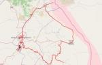 Шуши-Агдам и линия фронта