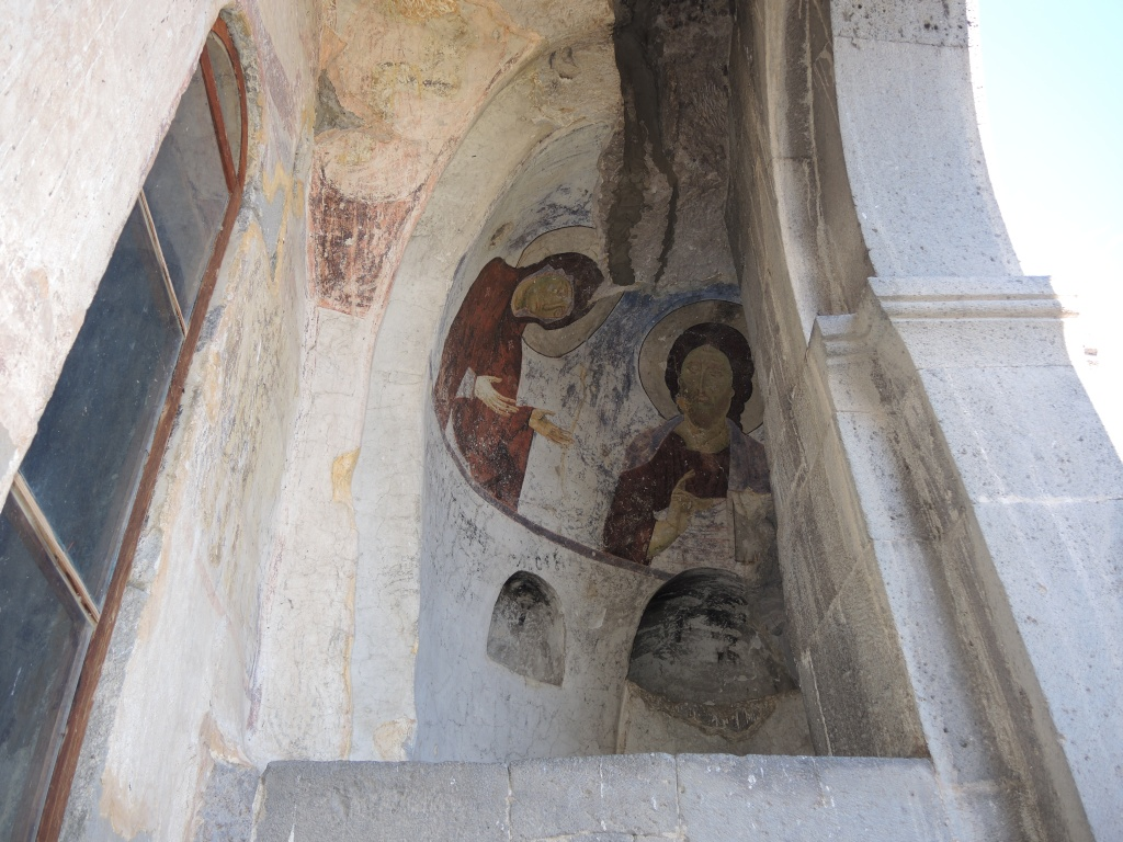 Вардзия - город в скале. Роспись в храме