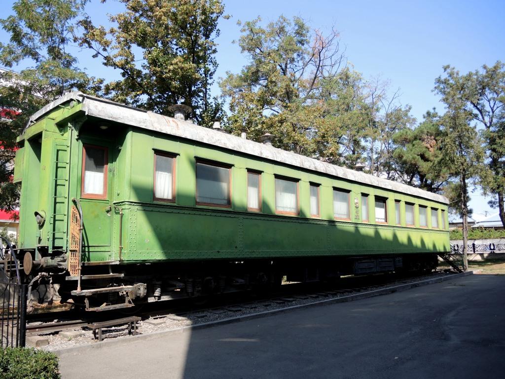 Гори. Музей Сталина. Его личный бронированный вагон