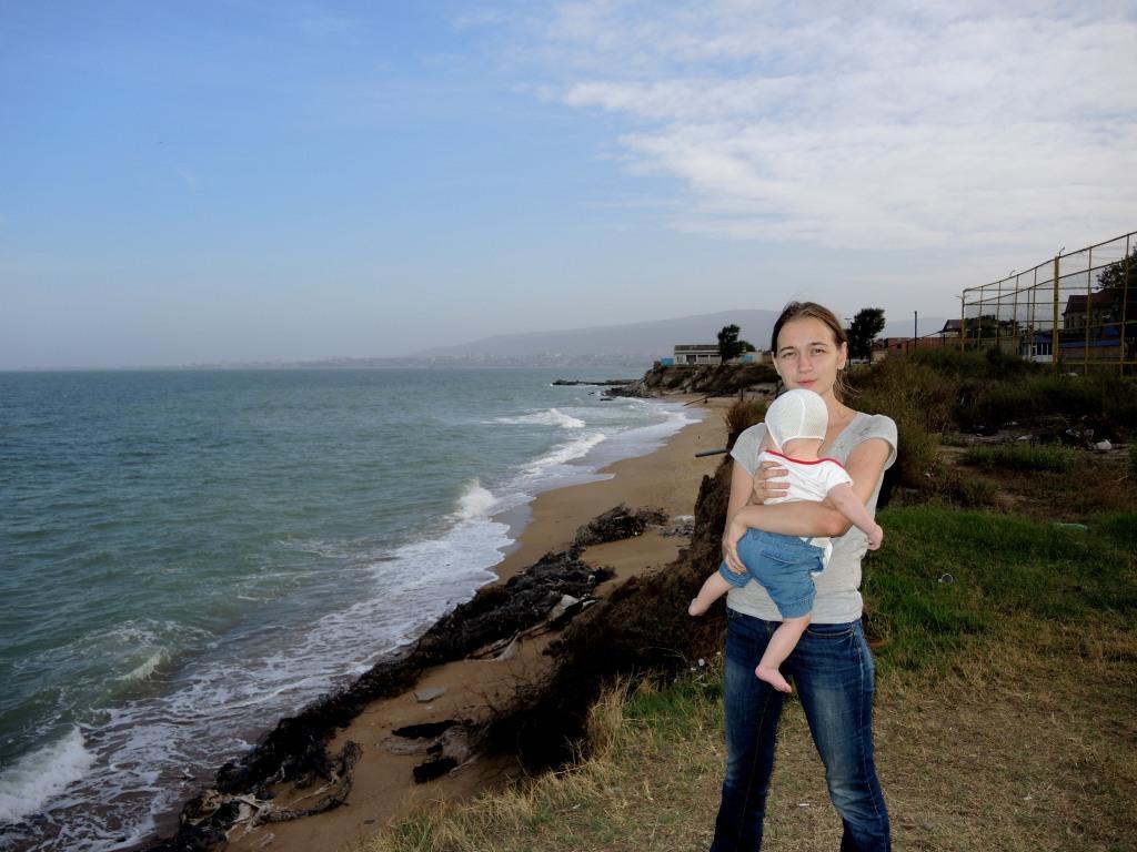 Каспийское море. Пансионат Маяк к Махачкале