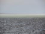 озеро Индер.Толщина соляной корки позволяет кататься по ней на машине