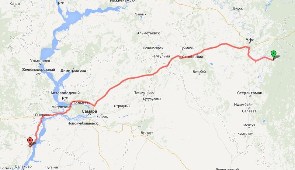 Уфа-Сызрань