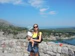 Албания. Крепость Розафа. В далеке не море, а Скадарское озеро