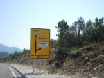В Боснийской частии БиГ сербские названия стерты со знаков.