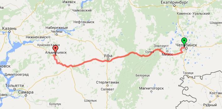 1-й день. Челябинск - Альтемьевск