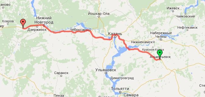2-й день. Альтемьевск - Нижний Новгород