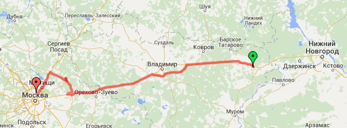3-й день. Нижний Новгород - Москва