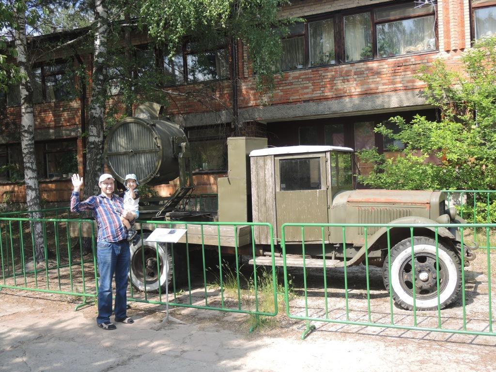 Музей в Ивановском. Машина  прожектор.