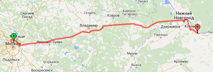 35-й день. Москва - Нижний Новгород