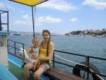 Болгария. Несебр-Солнечный берег. Максимка первый раз плывет на корабле.