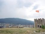 Скопье. Фортеция и крест тысячелетия.ё