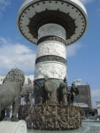 Скопье. Центральная площадь. Фонтан