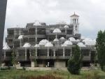 Приштина. Библиотека. Колокольня Кафедрального собора Марии Терезы