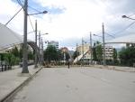 """Косовская-Митровица. Мост """"Дружбы"""", через реку Ибар. Вид на северную часть города"""