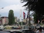 Косовская-Митровица. Северная часть. За рекою мечеть с Албанской части города.
