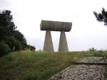 Косовская-Митровица. Сербская часть. Памятник вагонетке