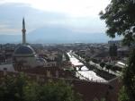 Косово. Призрен.  Мечеть Синан-паша со стороны крепости Калая.