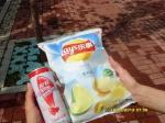 Молоко и чипсы