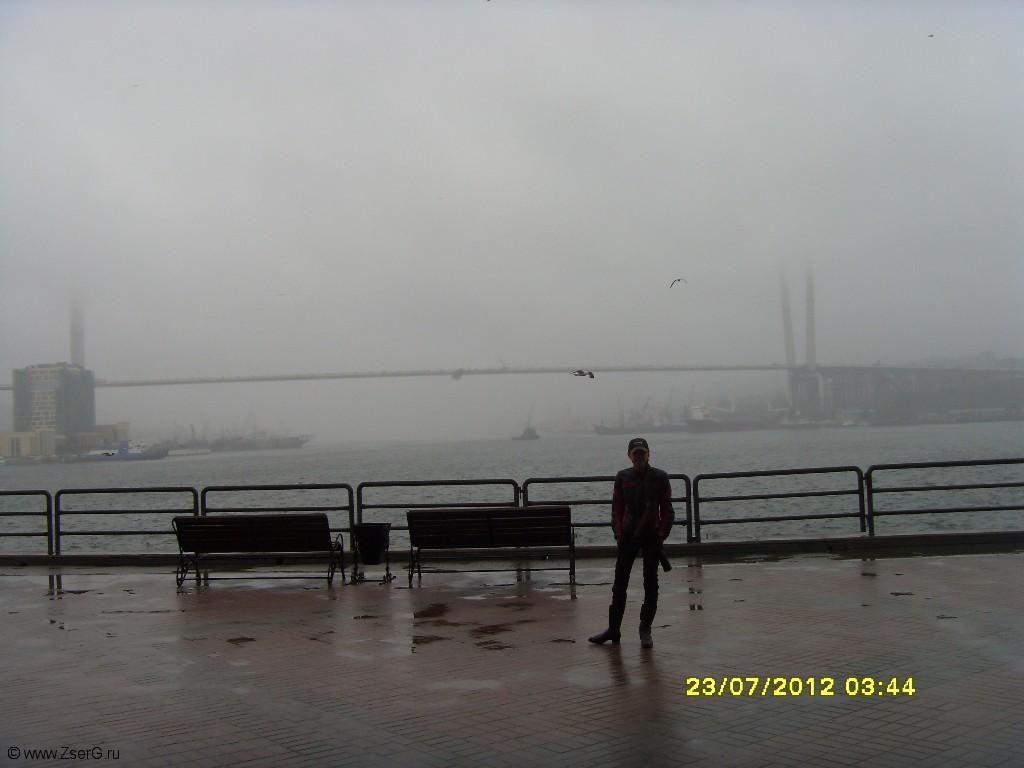 Морос во Владивостоке. Мост - Золотой рог