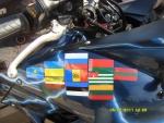 Флаги уже посещенных стран