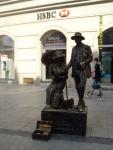 Польша. Краков. Живые статуи