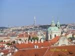 Чехия. Прага. Вид с Пражского Града на Прагу