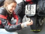 Франция. Округ Нор - Па-де-Кале. Вот так куском сырой резины и ремонтировали колесо