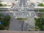 Франция. Париж. Вид с Эйфелевой башни на город. На башню поднимались пешком