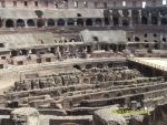 Италия. Рим. Колизей. Вид на сцену и нижние этажи, где находились гладиаторы