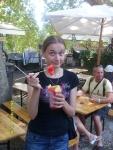 Италия. Рим. Вот так тут едят арбузы, дыни и прочие фрукты