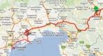 Карта за 25 день пути