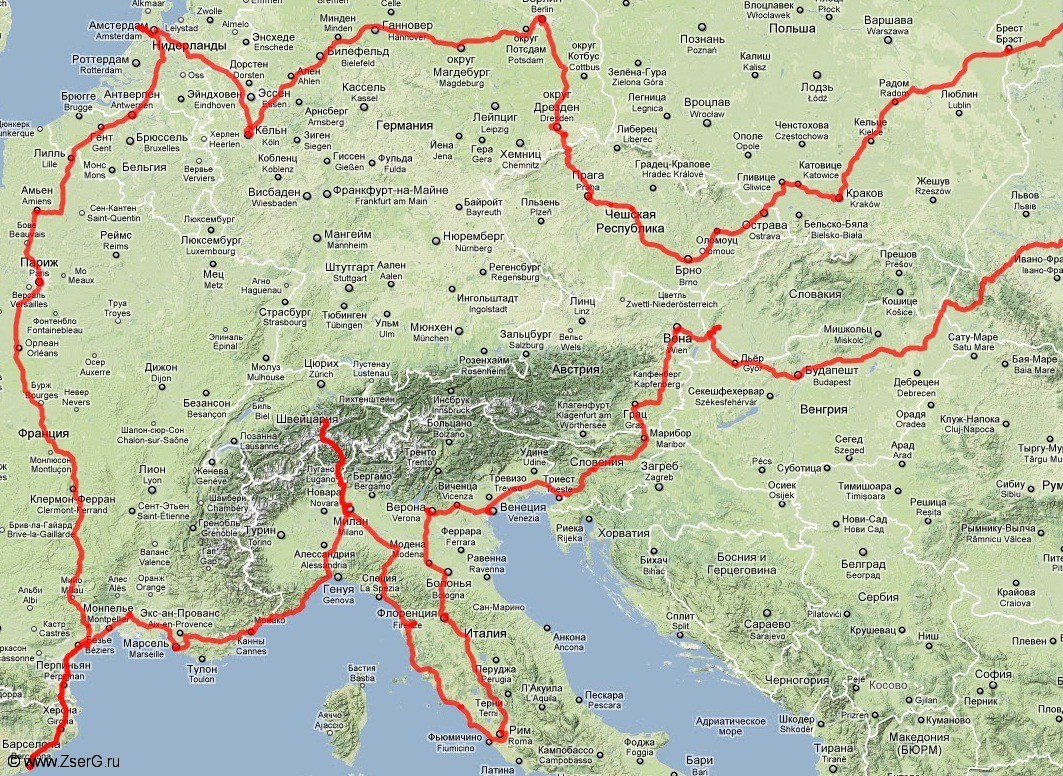 пройдённый путь. влезла только Европа