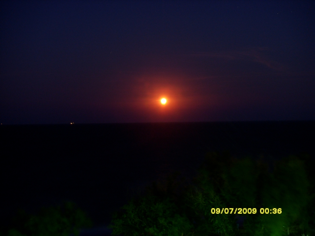 Каспийское море. Закат