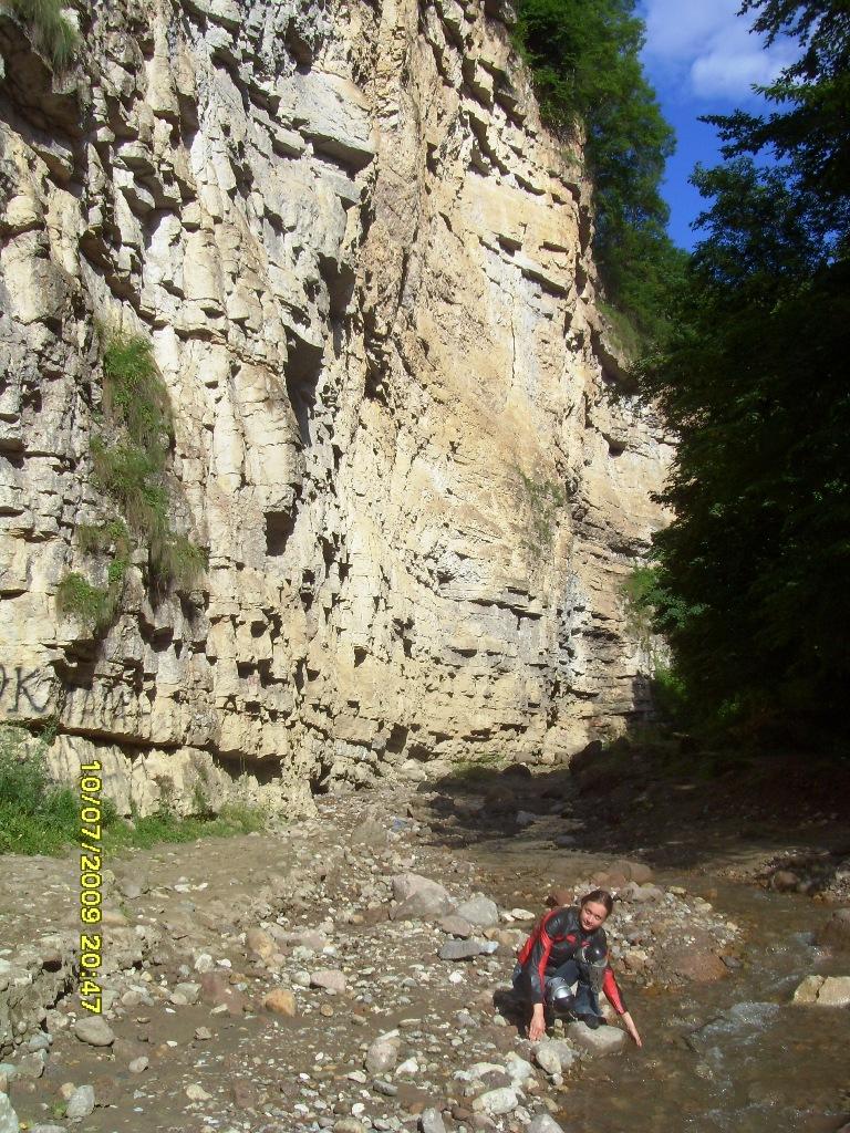 На пути к малому Чегемскому водопаду