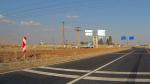 Военная база вдоль дороги