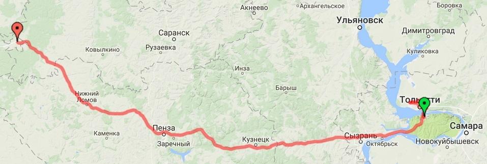 23-07-2016 Тольятти - подмосковье