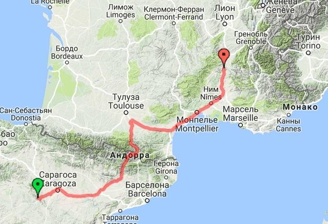 Испания - Андорра - Франция