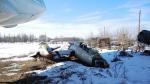 Луганск. Музей Авиации. Результат попадания мины.