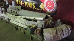 Луганск. База Ночных Волков. Музей войны. Начинка кассетных боеприпасов.