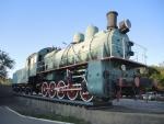 Байконур. Паровоз-памятник Эу 709-81 «Космотранс»