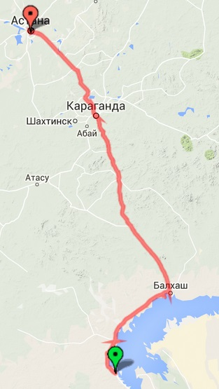 Балхаш-Караганда-Астана