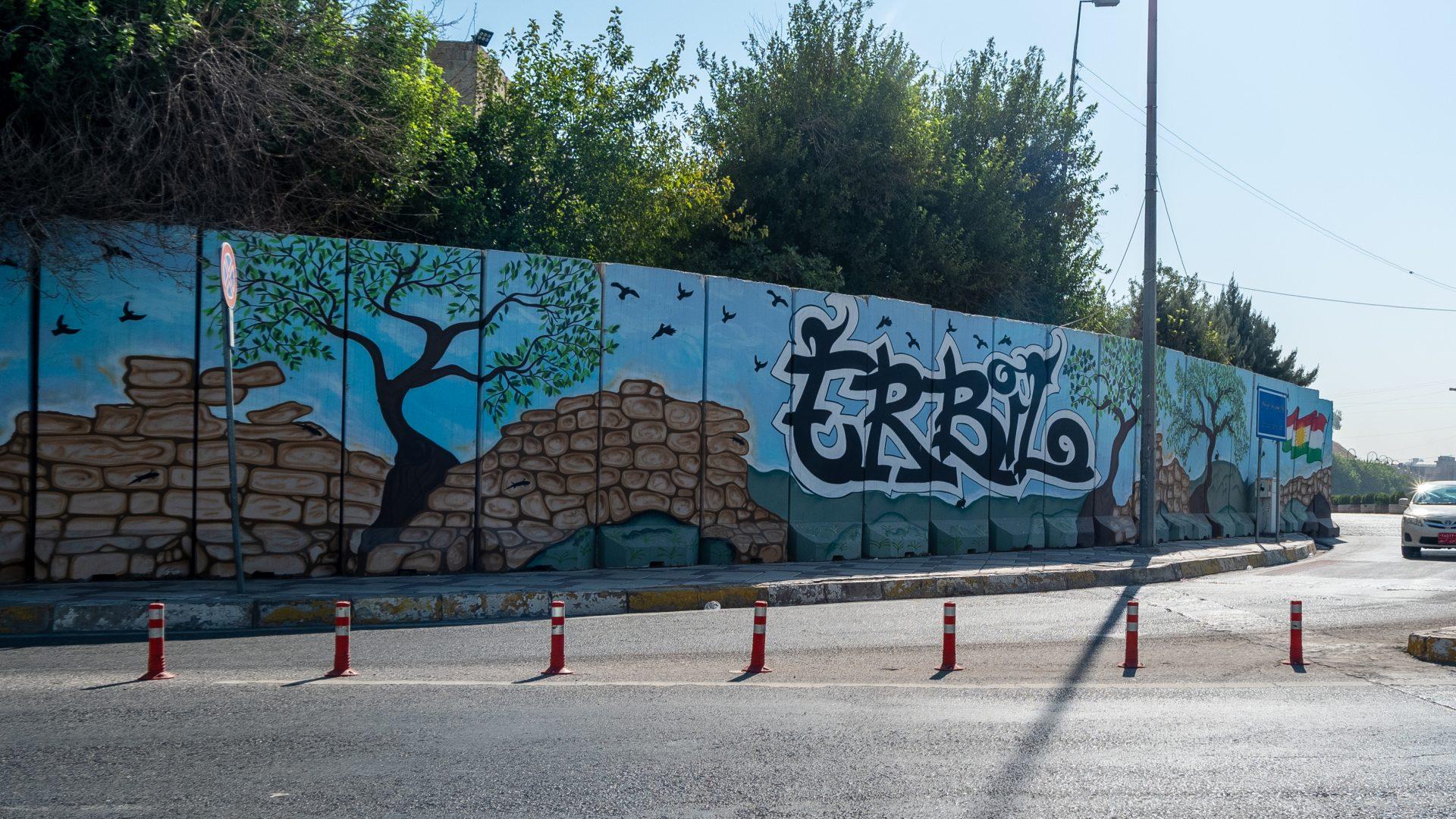 Эрбиль граффити