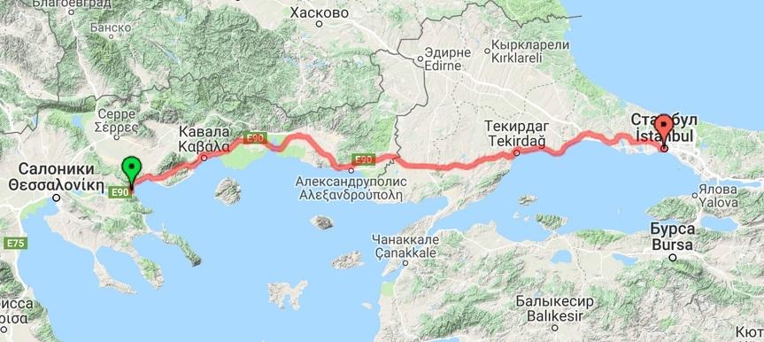 Греция - Стамбул
