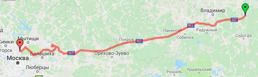Владимир - Москва