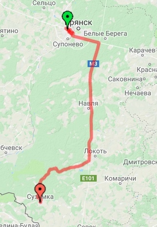 Брянск - Суземка