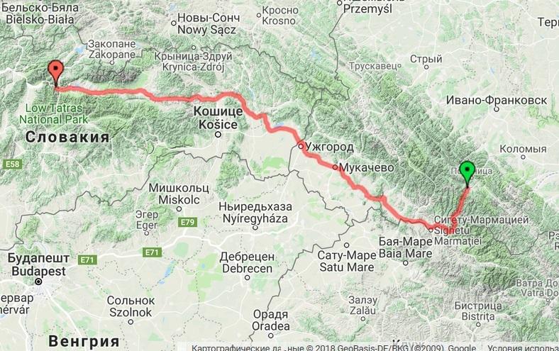 Закарпатье - Словакия