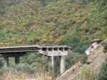 Взорванный мост. Южная Осетия