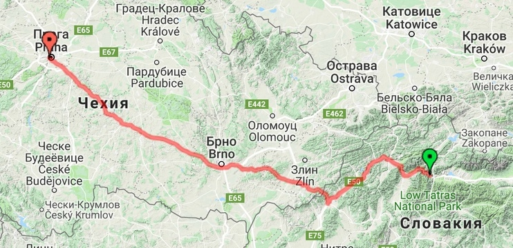 Словакия - Прага