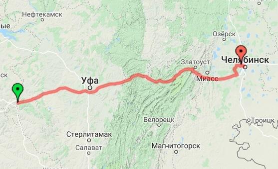 Башкирия -Челябинск