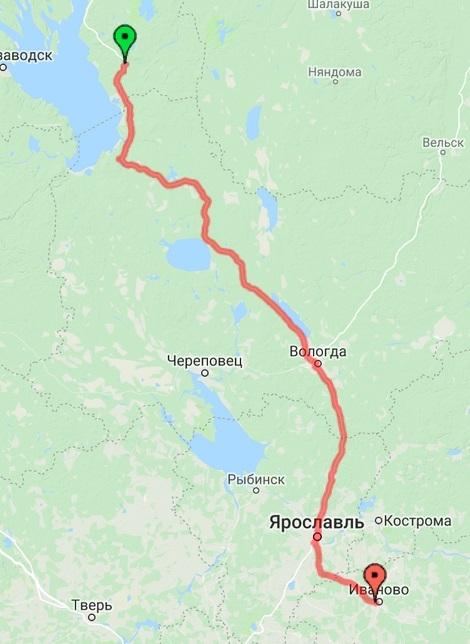 Пудож - Ярославль - Иваново